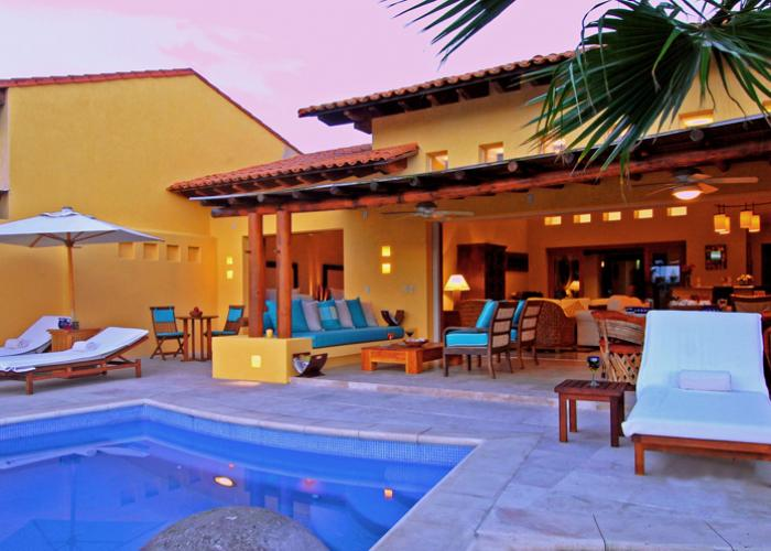 Villa Tamayo is tucked within the lush landscape of Las Palmas. This Punta Mita villa rental is a single level villa with a trio of bedrooms. Villa Tamayo's bedrooms each have an ensuite bathroom and large walk-in closet. The master suite is home to two private patios, one complete with an alfresco shower.  The single level makes this Punta Mita...