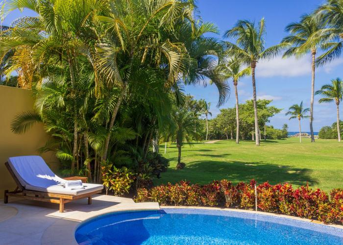 Villa Frida is tucked within the lush landscape of Las Palmas. This Punta Mita villa rental is a single level villa with a trio of bedrooms. Villa Frida's bedrooms each have an ensuite bathroom and large walk-in closet. The master suite is home to two private patios, one complete with an alfresco shower.  The single level makes this Punta Mita...